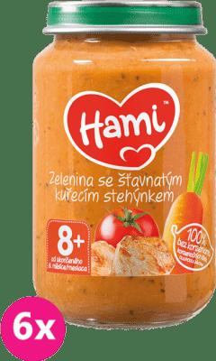 6x HAMI Zemiaky s paradajkami a kuraťom (200 g) - mäsovo-zeleninový príkrm