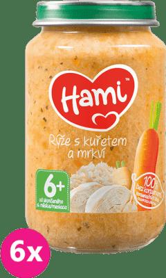 6x HAMI Ryža s kuracím mäsom (200 g) - mäsovo-zeleninový príkrm