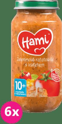 6x HAMI Zeleninový tanier s kuracím mäsom (250 g) - mäsovo-zeleninový príkrm
