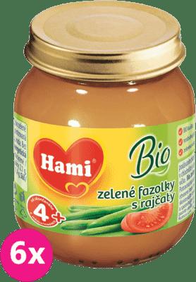 6x HAMI BIO Zelené fazuľky s paradajkami (125 g) - zeleninový príkrm