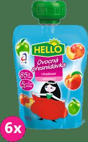 6x HELLO s broskyňami 100g - ovocný príkrm