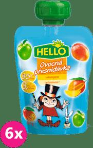 6x HELLO s mangom 100g - ovocný príkrm