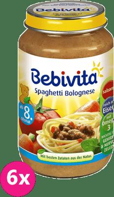 6x BEBIVITA Bolonské špagety (220 g) - mäsovo-zeleninový príkrm