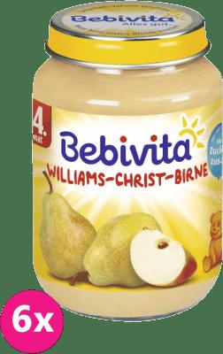 6x BEBIVITA Hruškový Williams-Christ 190g - ovocný príkrm