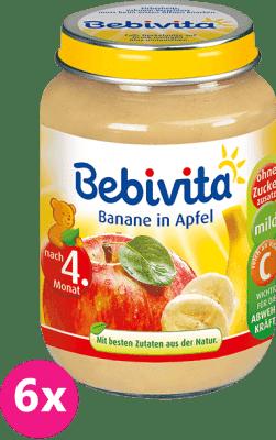 6x BEBIVITA Jablká s banánom 190g - ovocný príkrm