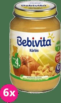 6x BEBIVITA Prvá tekvica (190 g) - zeleninový príkrm