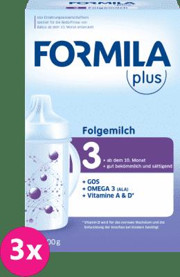 3x FORMILA Plus 3 (800 g) - dojčenské mlieko