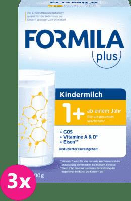 3x FORMILA Plus batoľacia 1+ (800 g) – dojčenské mlieko