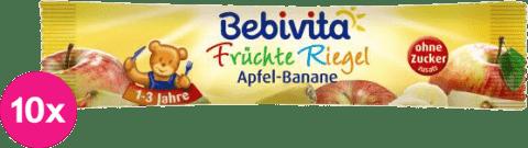 10x BEBIVITA Ovocná tyčinka jablko a banán (25 g)