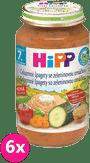 6x HIPP BIO Celozrnné špagety so zeleninovou omáčkou 220g