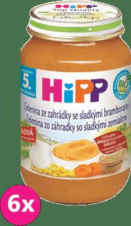 6x HIPP BIO Jemná zahradní zelenina se sladkými bramborami (190 g)