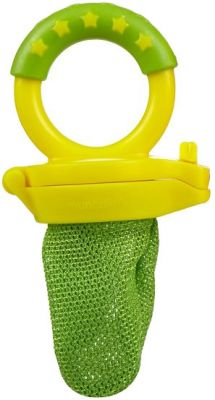 MUNCHKIN Krmící síťka na ovoce, zeleno-žlutá