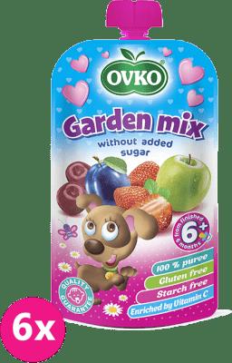 6x OVKO Záhradná zmes bez pridaného cukru 120g – ovocný príkrm