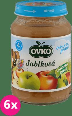 6x OVKO Jablko 190g – ovocný príkrm