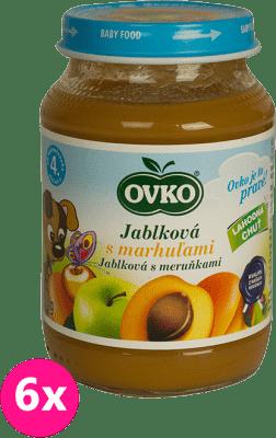 6x OVKO Jablko s marhuľami 190g – ovocný príkrm