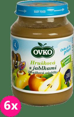 6x OVKO Hruška s jablkami 190g – ovocný príkrm