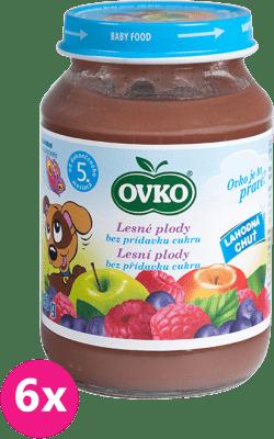 6x OVKO Lesná zmes bez pridaného cukru – 190g – ovocný príkrm