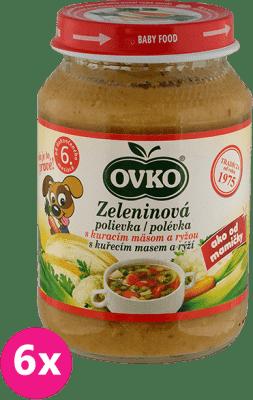 6x OVKO Zeleninová polievka s kuracím mäsom a ryžou 190g