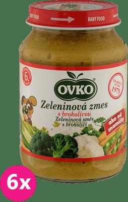 6x OVKO Zeleninová zmes s brokolicou 190g – zeleninový príkrm