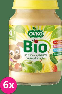 6x OVKO BIO Hruška s jablkami 190g – ovocný príkrm
