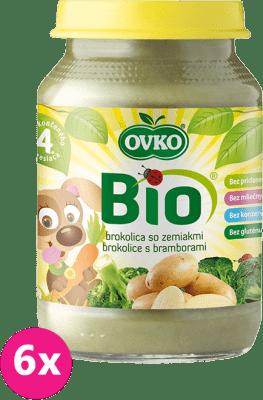 6x OVKO BIO Brokolicové pyré so zemiakmi 190g – zeleninový príkrm
