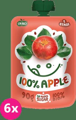6x OVKO BIO 100% Jablko 90g – ovocný príkrm