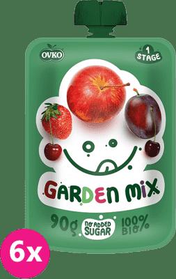 6x OVKO BIO Záhradná zmes 90g – ovocný príkrm