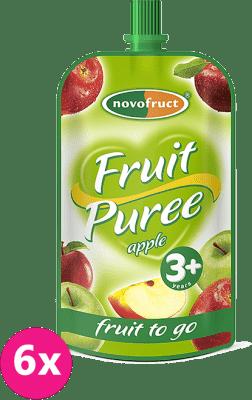 6x OVKO Ovocné pyré jablkové 120g - ovocný príkrm