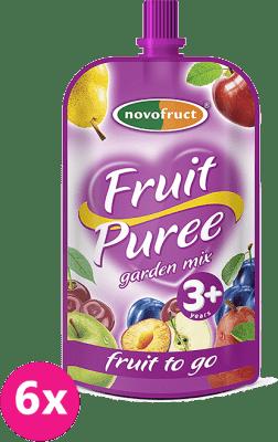 6x OVKO Ovocné pyré záhradná zmes 120g - ovocný príkrm