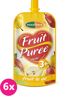 6x OVKO Ovocné pyré hruškové 120g - ovocný príkrm