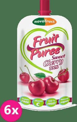 6x OVKO Ovocné pyré čerešňové 120g - ovocný príkrm