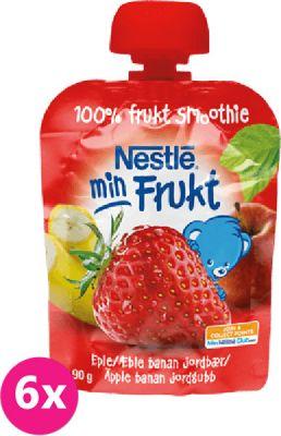 6x NESTLÉ Min Frukt Jablko Banán Jahoda (90 g) - ovocná kapsička