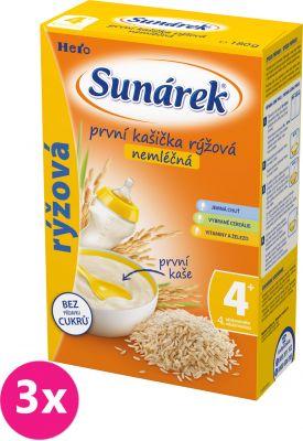 3x SUNÁREK Rýžová kaše nemléčná, 180 g