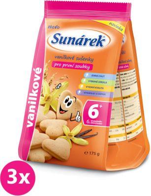 3x SUNÁREK Vanilkové sušienky (175 g)