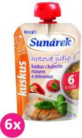 6x SUNÁREK Kapsička - Kuskus s kuracím mäsom a zeleninou (120 g)