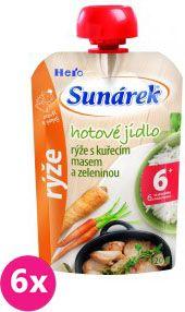 6x SUNÁREK Kapsička - Ryža s kuracím mäsom a zeleninou (120 g)