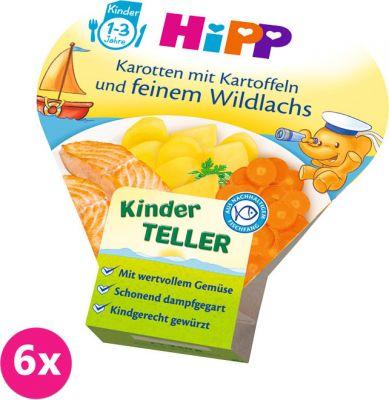 6x HIPP Bezlepkové brambory se zeleninou a jemným lososem, 250 g - zeleninový příkrm