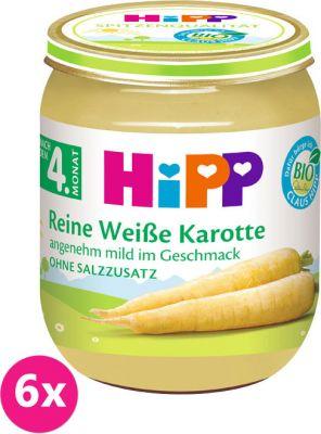 6x HIPP BIO Bílá bezlepková mrkev, 125 g - zeleninový příkrm