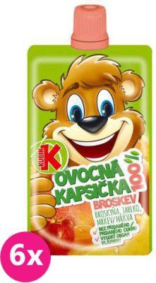 6X KUBÍK 100% Ovocná kapsička broskyňa-mrkva-jablko 100 g