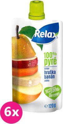6X RELAX PYRÉ 100% Hruška-Banán 120 g