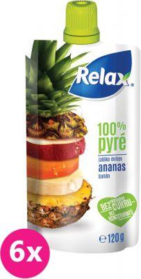 6X RELAX PYRÉ 100% Ananás 120 g