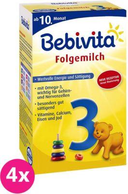 4x BEBIVITA 3 (500 g) - dojčenské mlieko