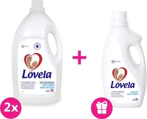 2x LOVELA Color prací gél 4,7 L (50 dávok) + Lovela aviváž 2 L