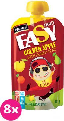 8x HAMÁNEK Easyfruit Golden Apple broskev + hruška (110 g) – ovocná kapsička