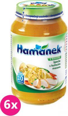 6x HAMÁNEK Špecle s kuřecím masem (230 g) - masozeleninový příkrm