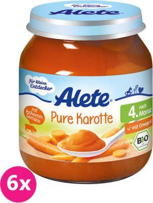 6x ALETE BIO Mrkev 125 g – zeleninový příkrm