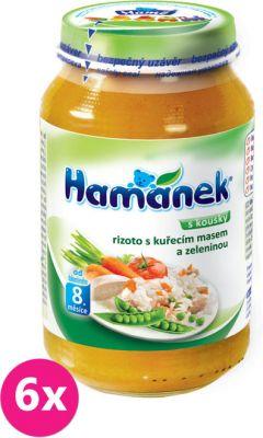 6x HAMÁNEK Rizoto s kuřecím masem a zeleninou (230 g) - maso-zeleninový příkrm