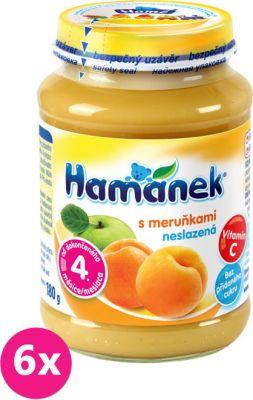 6x HAMÁNEK S meruňkami neslazeno DIA (180 g) - ovocný příkrm