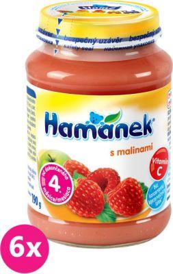6x HAMÁNEK S malinami (190 g) - ovocný příkrm
