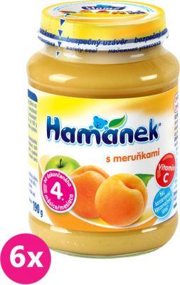 6x HAMÁNEK S meruňkami (190 g) - ovocný příkrm
